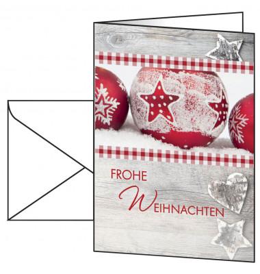 Weihnachtskarten Winter Feeling A6 25 Stück inkl. weißen Umschlägen DS053