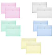 Dokumententasche 40114 A5 farbig sortiert/transparent bis 300 Blatt 10 Stück
