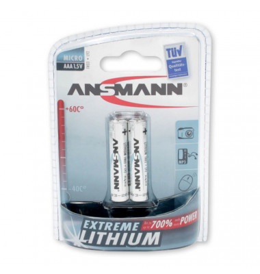 Batterien EXTREME LITHIUM Micro AAA 1,5 V 5021013