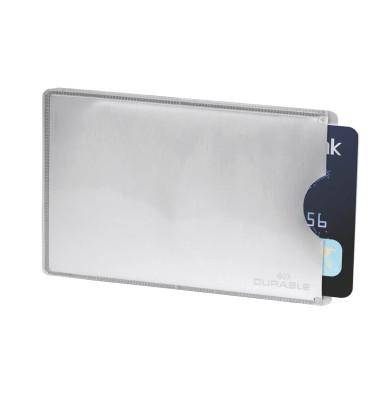 Kartenhülle RFID Secure silber