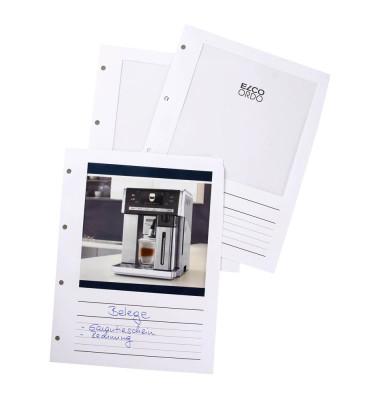 100 Prospekthüllen Ordo Vista weiß glatt 29462,1