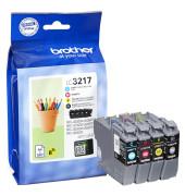 Druckerpatrone LC-3217 schwarz / cyan / magenta / gelb 4x ca 550 Seiten Multipack