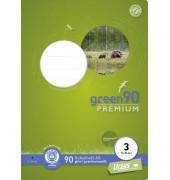 Schulheft green 3. Schuljahr A5 Lineatur 3 liniert weiß 16 Blatt