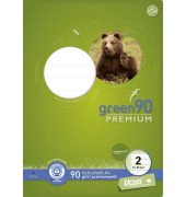 Schulheft green 2. Schuljahr A4 Lineatur 2 liniert farbig hinterlegt weiß 16 Blatt