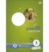 Schulheft green 3. Schuljahr A4 Lineatur 3 liniert weiß 16 Blatt