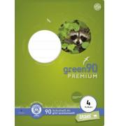 Schulheft green A4 Lineatur 4 liniert weiß 16 Blatt