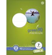 Schulheft green A4 Lineatur 7 kariert weiß 16 Blatt