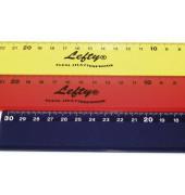 2012229  Lefty Linkshänder Lineal Plastik 30cm L3 sortier