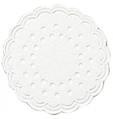 Tassenuntersetzer Ø 7,5cm weiß Zelltuch 25 Stück