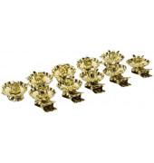 Christbaumkerzenhalter-Klipp gold Ø 15mm 10 Stück