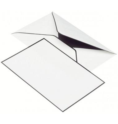 TRAUERPOST 22313701  matt Kartenmappe A6/C6 5/5 weiß