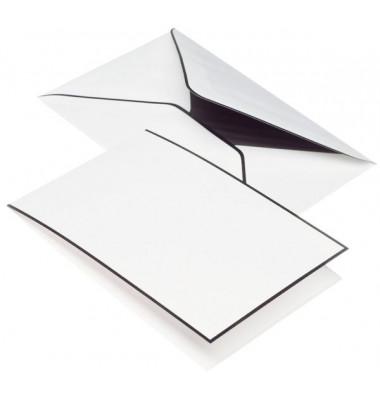 TRAUERPOST 22373701  matt Kartenmappe A6 LD/C6 5/5 weiß