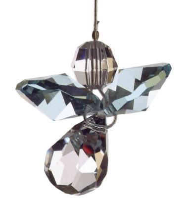 5080aq Swarovski-Kristall Schutzengel klein Aquamarin