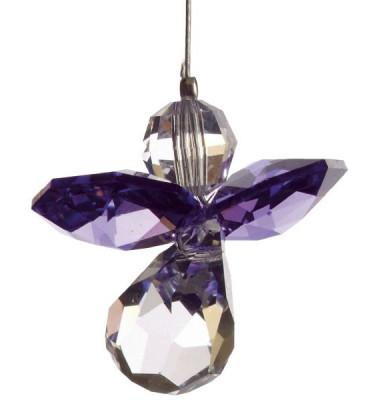 5080at Swarovski-Kristall Schutzengel klein Amethyst