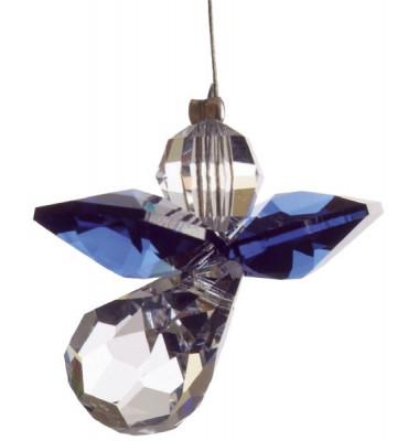 5080dsa Swarovski-Kristall Schutzengel klein dunkler Saphir