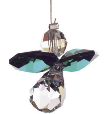 5080em Swarovski-Kristall Schutzengel klein Smaragd