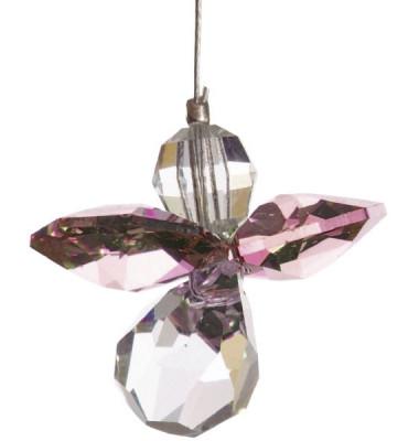 5080ros Swarovski-Kristall Schutzengel klein Rosenquarz