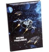 GOLDBUCH 43570 Freundebuch A5 Raumschiff