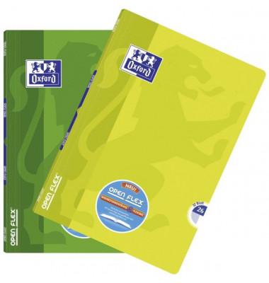 Schulheft OpenFlex A4 Lineatur 26 kariert mit Rand farbig sortiert 32 Blatt