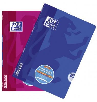 Schulheft OpenFlex A4 Lineatur 28 kariert mit Doppelrand farbig sortier 32 Blatt