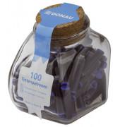Tintenpatronen - königsblau, 100 Stück im Glas