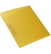 Schulordner - A4, 2-D-Ring Ø25 mm, transluzent gelb