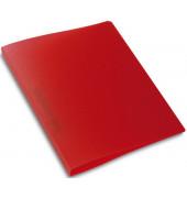 Schulordner - A4, 2-D-Ring Ø25 mm, transluzent rot