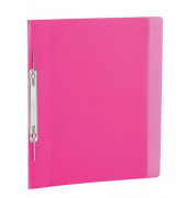 Spiral-Schnellhefter 19539 A4 pink-transparent Kunststoff Amtsheftung