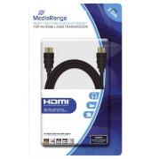 HDMI-Kabel High Speed - 4K, mit Ethernet, vergoldete Kontakte, 18 Gbit/s Datenübertragungsrate, 3 m, schwarz