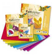 """""""Faltblätter """"""""Duo"""""""" - 50 Blatt, 10 Farben sortiert, 80g, 20x20cm"""""""