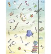 Zeichenmappe Schooldoodle - bis DIN A4, mit Gummizugverschluss