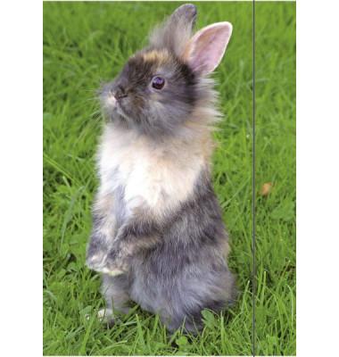 Zeichenmappe Kaninchen - bis DIN A3, mit Gummizugverschluss