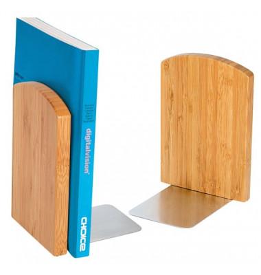 Buchstützen Bambus 611207 braun 120 x 117 x 172 mm 2 Stück