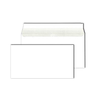 Kompakt-Briefhüllen m.Falte HK weiß 80g 125x235x10mm 500 St