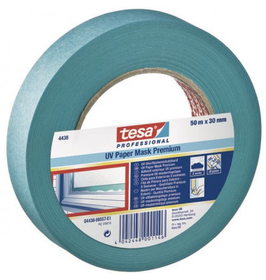 Kreppband UV blau 30mmx50m