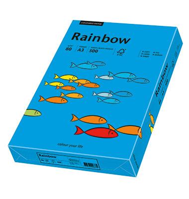 Coloured Paper blau intensiv A3 80g Kopierpapier 500 Blatt