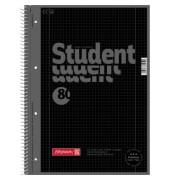 Collegeblock Student Colour Code A4 kariert perforiert gelocht mit Doppelrand onyx schwarz 80 Blatt