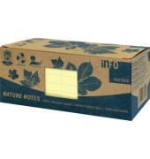 Haftnotiz 75 x 75 mm (B x H) pastellgelb 100 Bl./Block 12 Block/Pack.