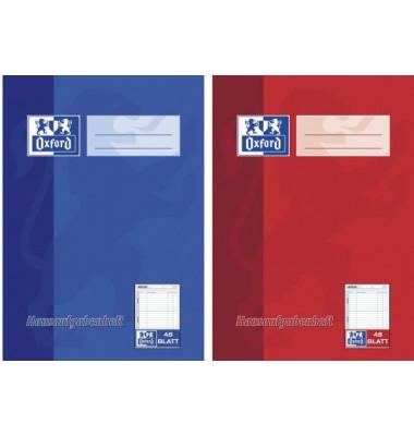 Hausaufgabenheft ab 5.-8.Klasse A5 farbig sortiert 48 Blatt