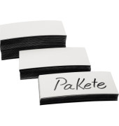 Magnetschild 100 x 20 x 0,6 mm (B x H x T) PVC weiß 100 St./Pack