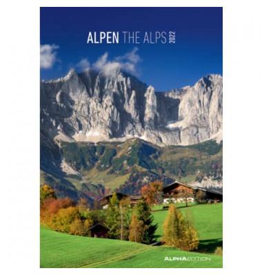17.0218  23,7x34cm Bildkalender Alpen  2018