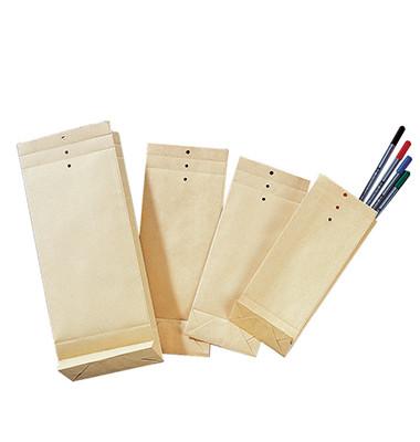 Musterbeutel 12x28,5x4,5cm 120g natronbraun 250 St./Pack.