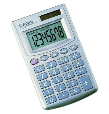 Taschenrechner LS-270H 1 x 8-stellig silber Solar-Energie, Batterie