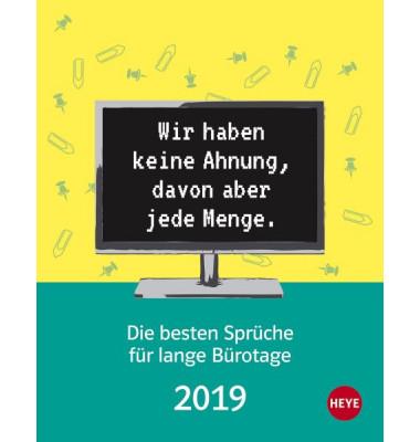 Heye 22593 11x14cm Kalender Burospruche 2019