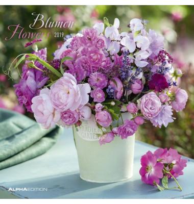 Bildkalender Blumen 1Monat/2Seiten 30x60cm 2021