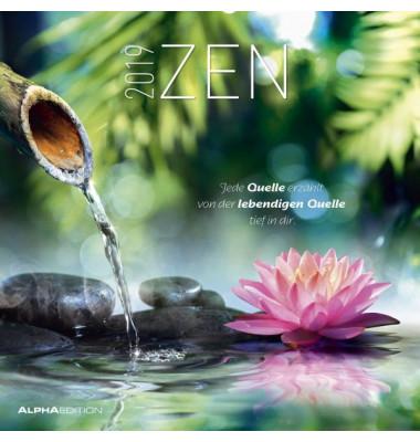 17.0116  30x60cm Bildkalender Zen 2018