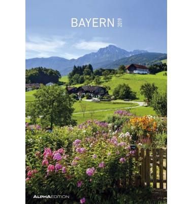 Bildkalender Bayern 1Monat/1Seite 24x34 cm 2021