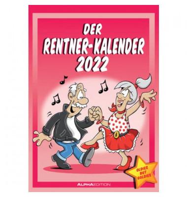 Bildkalender Der Rentner-Kalender 1Monat/1Seite 24x34 cm 2021