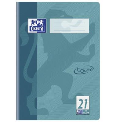 Schulheft Touch A4 Lineatur 21 liniert mint 16 Blatt