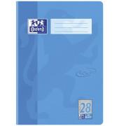 Schulheft Touch A4 Lineatur 28 kariert mit Doppelrand meerblau 16 Blatt